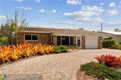 Oakland Park Single Family Home For Sale: 360 NE 42nd St