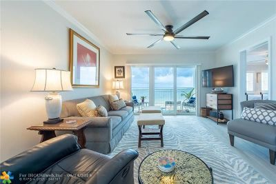 Lauderdale By The Sea Condo/Townhouse For Sale: 1770 S Ocean Blvd #501