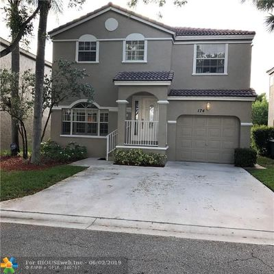 Coral Springs Single Family Home For Sale: 174 NW 117th Ave