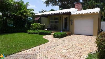 Fort Lauderdale Single Family Home For Sale: 531 NE 8th Ave