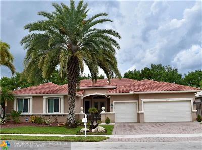 Pembroke Pines Single Family Home For Sale: 18717 SW 7th St