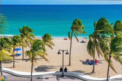 Fort Lauderdale Condo/Townhouse For Sale: 101 S Fort Lauderdale Beach Blvd #308