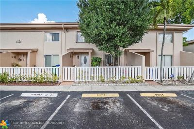 Margate Condo/Townhouse For Sale: 1535 NW 80th Ave #H