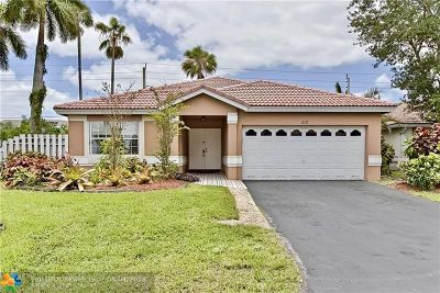 Plantation Single Family Home For Sale: 601 NW 135th Terrace