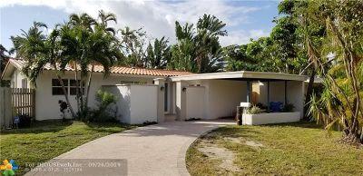 Oakland Park Single Family Home For Sale: 1568 NE 38th St