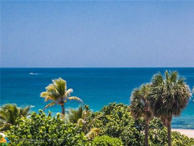Pompano Beach Condo/Townhouse For Sale: 1000 S Ocean Blvd #4M