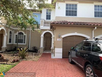 Miramar Condo/Townhouse For Sale: 14068 SW 51st Ct #14068