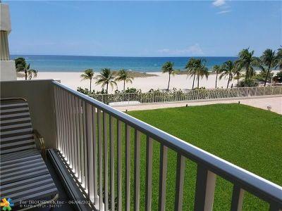 Pompano Beach Condo/Townhouse For Sale: 750 N Ocean Blvd #302