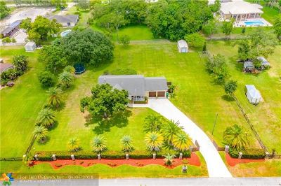 Davie Single Family Home For Sale: 1831 SW 116th Ave