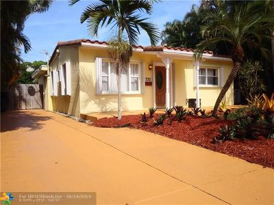 Fort Lauderdale Single Family Home For Sale: 1732 NE 16th Ave