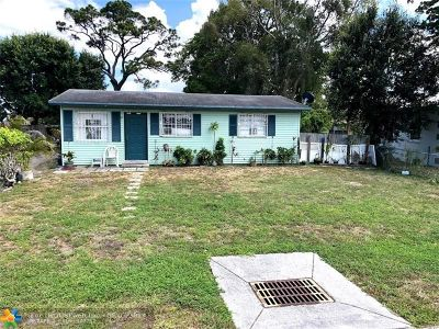 Oakland Park Single Family Home For Sale: 2164 NW 28th St