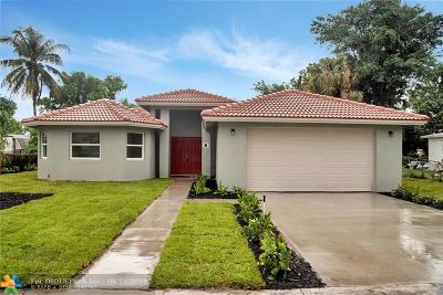 Lauderhill Single Family Home For Sale: 3451 NW 4th St
