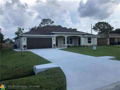 Martin County, St. Lucie County Single Family Home For Sale: 574 Chapman Ave