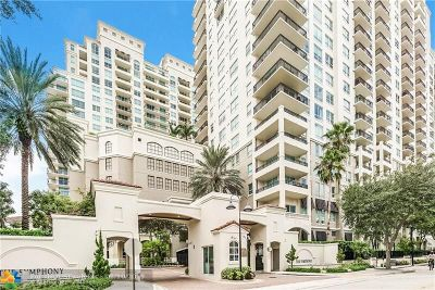 Fort Lauderdale Condo/Townhouse For Sale: 610 W Las Olas Blvd #1520N