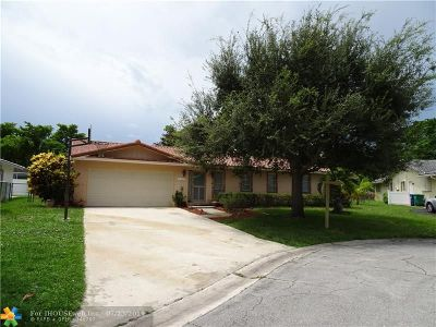Coral Springs Single Family Home For Sale: 8562 NW 25th Pl