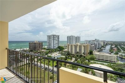 Pompano Beach Condo/Townhouse For Sale: 1200 Hibiscus Ave #1506