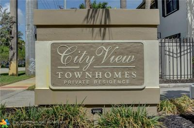 Fort Lauderdale Condo/Townhouse For Sale: 396 City View Dr #396