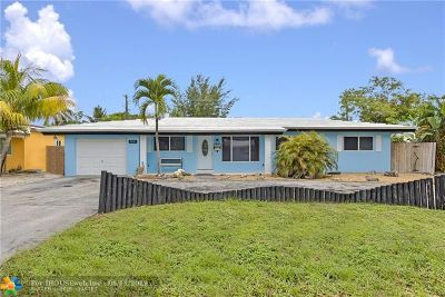 Pompano Beach Single Family Home For Sale: 3837 NE 17th Ave