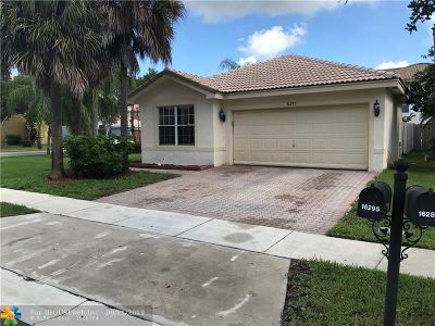 Miramar Single Family Home For Sale: 16295 SW 26th St