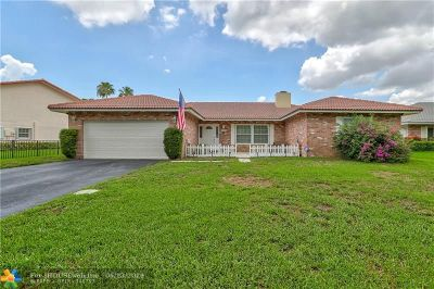 Coral Springs Single Family Home For Sale: 10955 NW 17th Pl