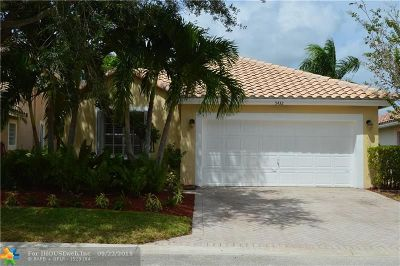 Coral Springs Single Family Home For Sale: 5432 NW 122nd Dr