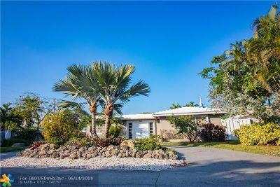 Oakland Park Single Family Home For Sale: 1851 NE 32nd St