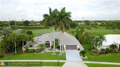 Boca Raton Single Family Home For Sale: 11050 Boca Woods Lane