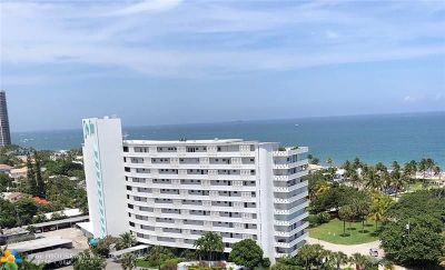 Fort Lauderdale Condo/Townhouse For Sale: 2840 N Ocean Blvd #604