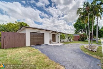 North Lauderdale Single Family Home For Sale: 6608 Boulevard Of Champions