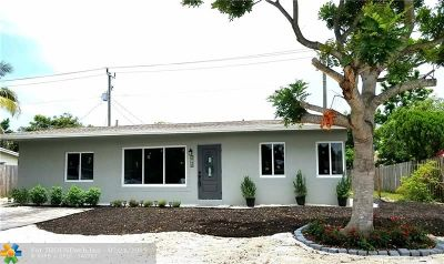 Pompano Beach Single Family Home For Sale: 2740 NE 8th Ter