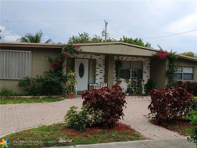Pompano Beach Single Family Home For Sale: 4421 NE 2nd Ter