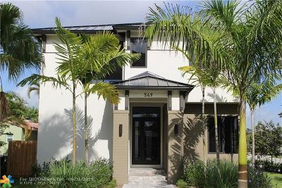Fort Lauderdale Single Family Home For Sale: 549 NE 10th Ave