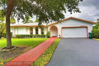 Coral Springs Single Family Home For Sale: 8398 NW 17th Ct