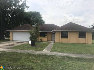 Miramar Single Family Home For Sale: 3598 SW 69th Way