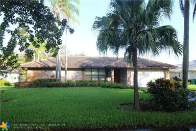 Coral Springs Single Family Home For Sale: 1226 NW 111th Ave