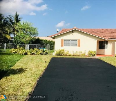 Coral Springs Single Family Home For Sale: 11151 A NW 35 Place