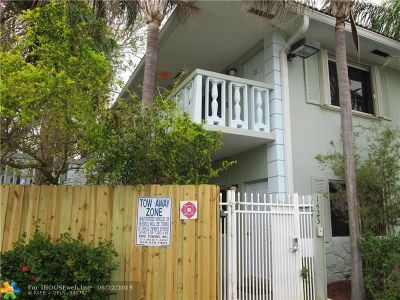 Fort Lauderdale Rental For Rent: 1423 Holly Heights Dr #4