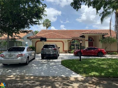 Coral Springs Single Family Home For Sale: 5001 Rothschild Dr