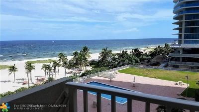 Pompano Beach Condo/Townhouse For Sale: 750 N Ocean Blvd #604