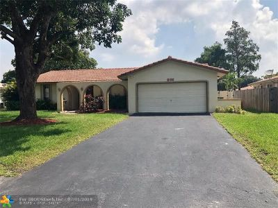 Coral Springs Single Family Home For Sale: 969 Ramblewood Dr
