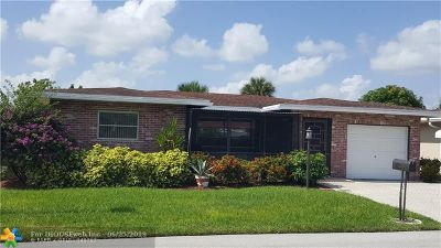 Deerfield Single Family Home For Sale: 1100 NW 48th Pl