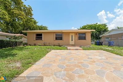 Fort Lauderdale FL Single Family Home For Sale: $205,000