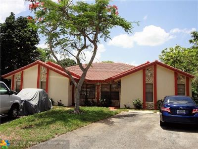Coral Springs Multi Family Home For Sale: 11545 NW 33rd St