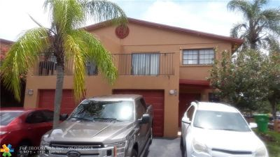 Sunrise Condo/Townhouse For Sale: 8042 NW 28th Ct #8042