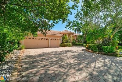 Coral Springs Single Family Home For Sale: 11836 NW 9th St