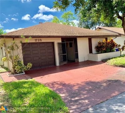 Deerfield Beach Single Family Home Backup Contract-Call LA: 1728 SW 19th Ave