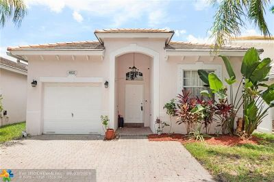 Coconut Creek Single Family Home For Sale: 4832 NW 19th St