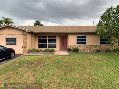 Sunrise Single Family Home For Sale: 4665 NW 113th Ave
