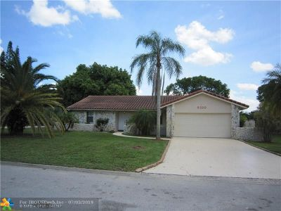 Coral Springs Single Family Home For Sale: 9320 NW 4th St