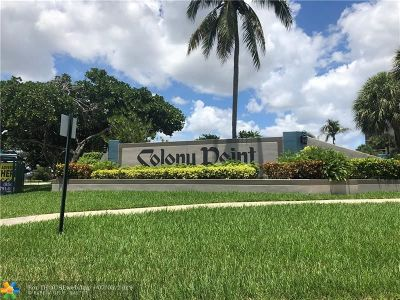 Pembroke Pines Condo/Townhouse For Sale: 1101 Colony Point Cir #306